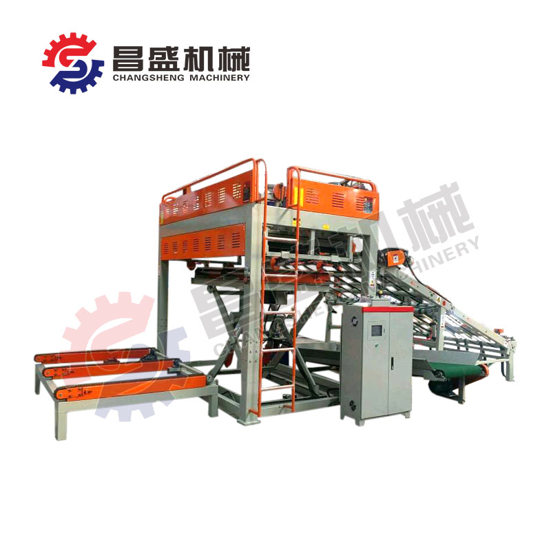 Veneer stacker machine structure and operation